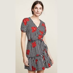 Madewell Ruffle-Wrap Dress in Candied Orchids